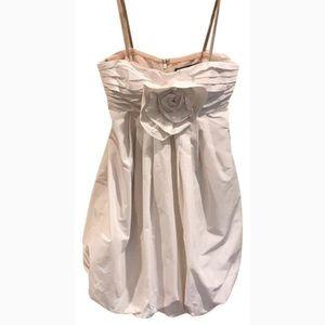 BCBG Maxazria Strapless Off-White Cocktail Dress